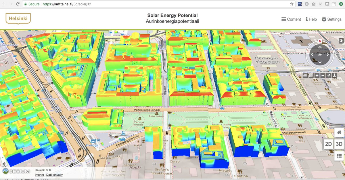 Teemu Ropponen On Twitter The Helsinki 3d Solar Energy Potential