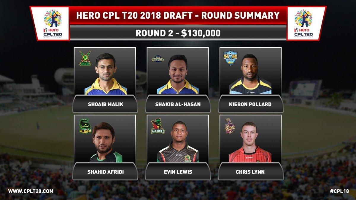 Round 2 Picks! Few Surprises!! #CPL18 #C...