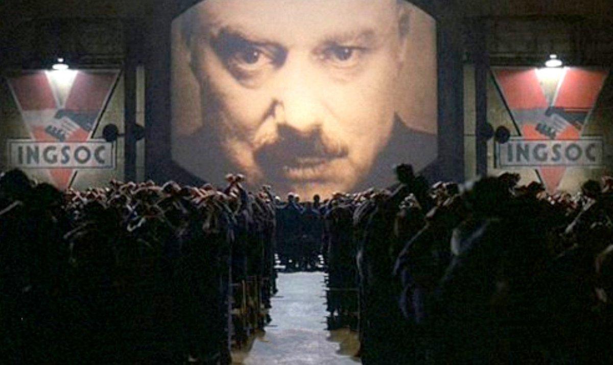 George Orwell, 1984 Vladimir Putin, 2018 h/t @ChristopherJM (Putin pic by @AZemlianichenko)