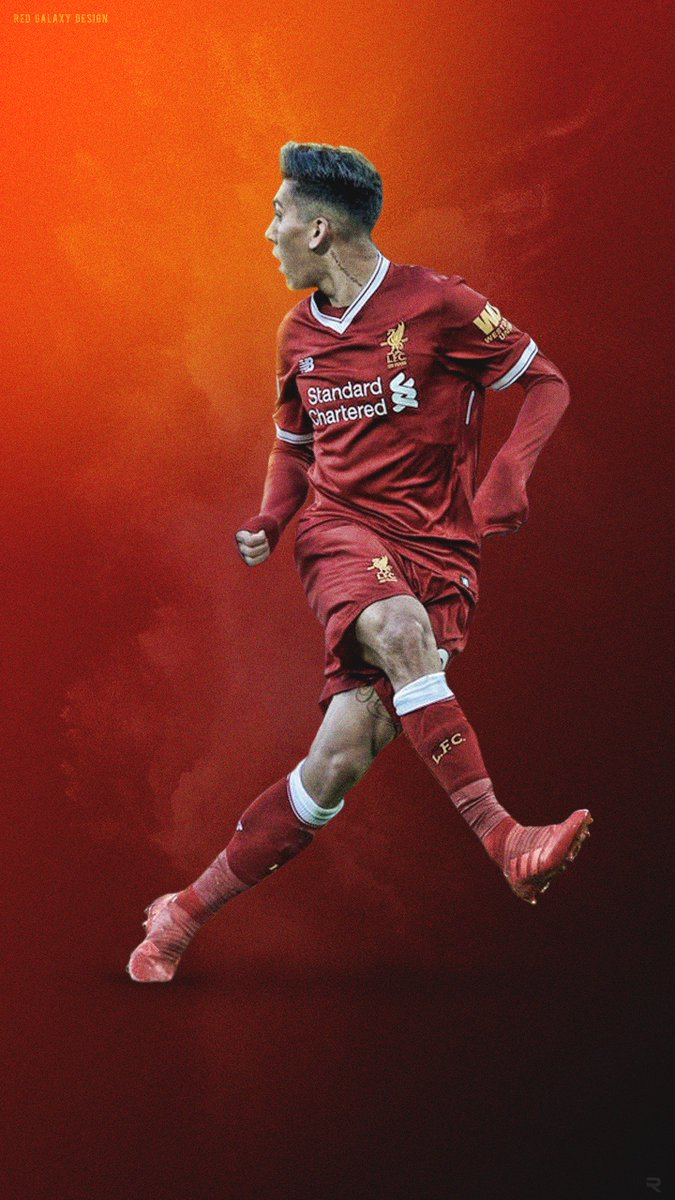 Red Galaxy Design On Twitter Roberto Firmino No Look Phone