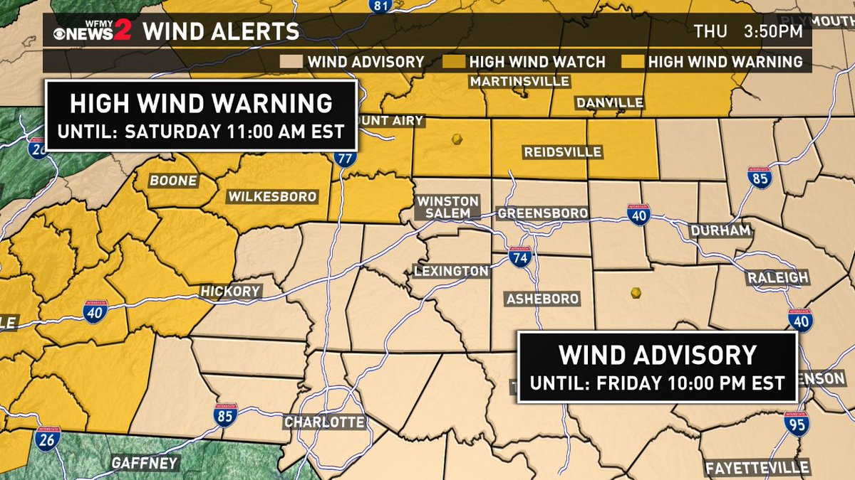 High wind warning issued; widespread power outages expected