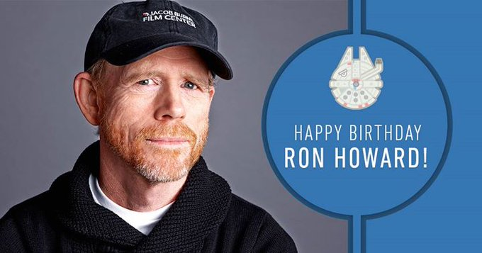 Happy birthday to longtime Lucasfilm family member and director of Solo: A Star Wars Story, Ron Howard!