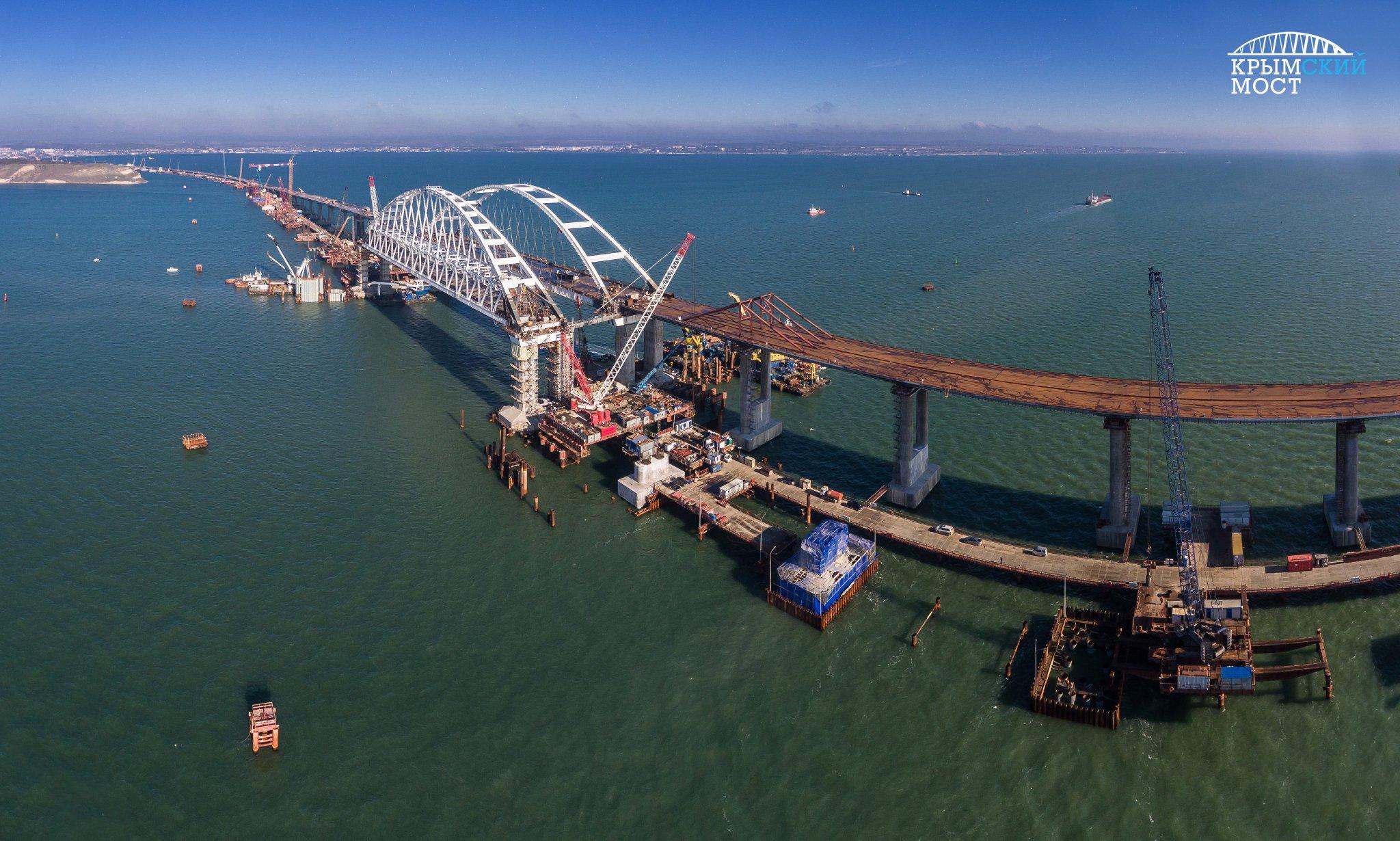 строительство моста в крым сегодня фото простой