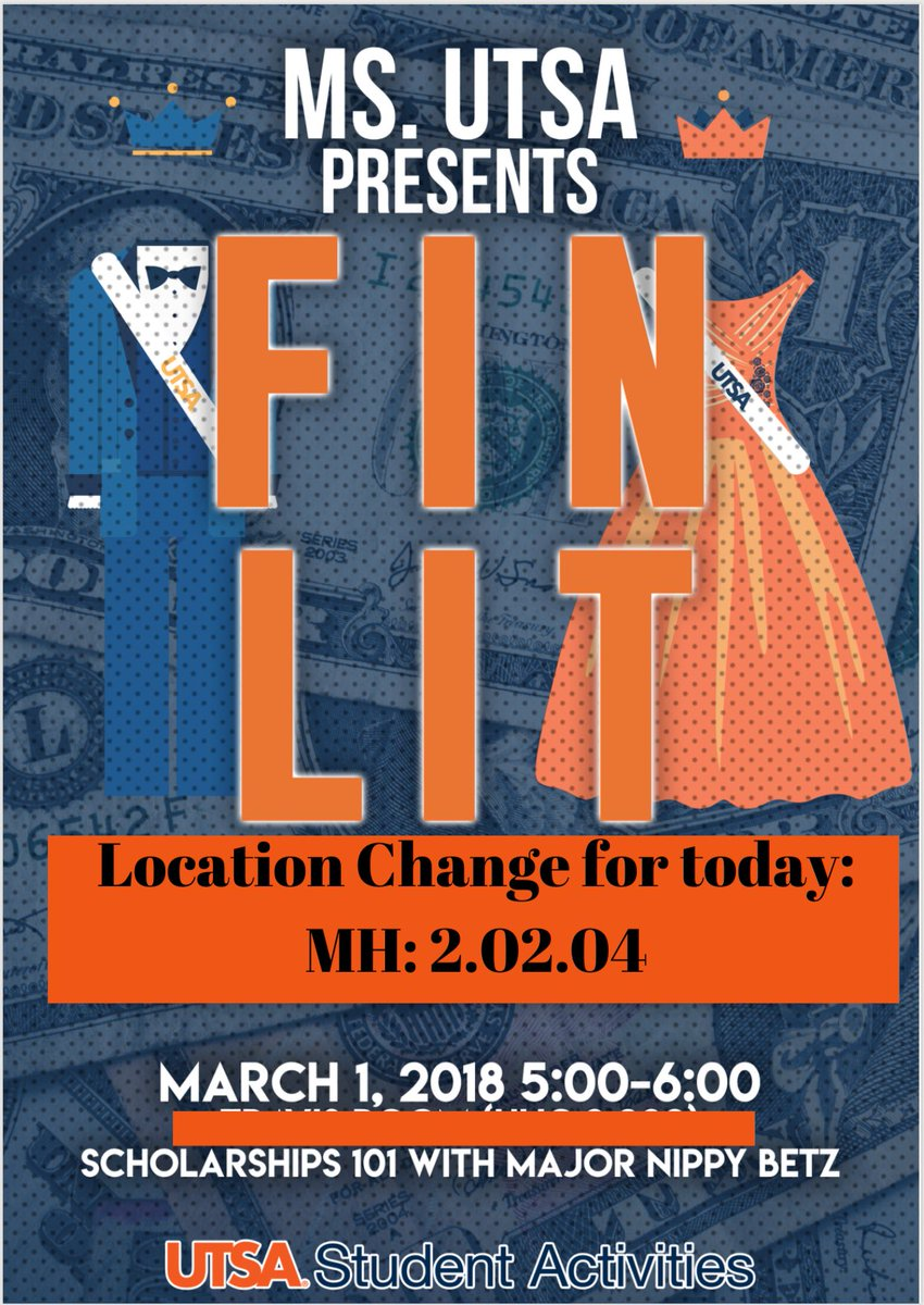 🚨Attention: location has changed!!! Hope to see you guys at 5:00pm! #utsa
