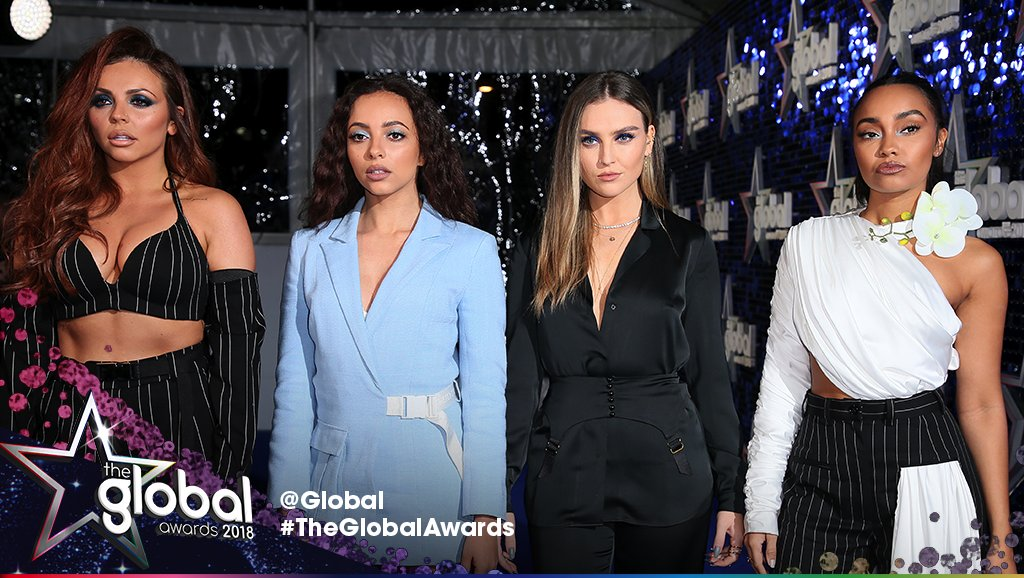 GAAHHHH LOOK WHO HAVE JUST ENTERED THE BUILDING GUYS! IT'S @LittleMix 😩💙💙💙 #TheGlobalAwards https://t.co/cHH7ZurxED