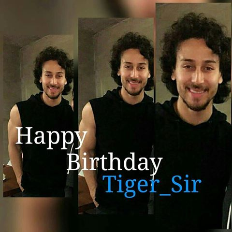 Very very happy birthday TIGER SHROFF