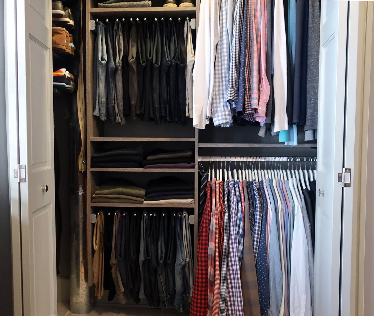 See How We Transformed @bradleytraynoru0027s Wire Reach In Closet With A  Functional California Closets System. #CaliforniaClosets Http:// CaliforniaClosets.com ...
