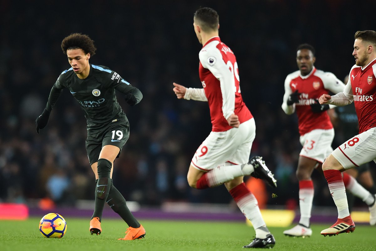 DXOnaH4XkAAp0P  - Favourites Manchester City Thump Wenger Brigade In Their Own Den: Players' Ratings