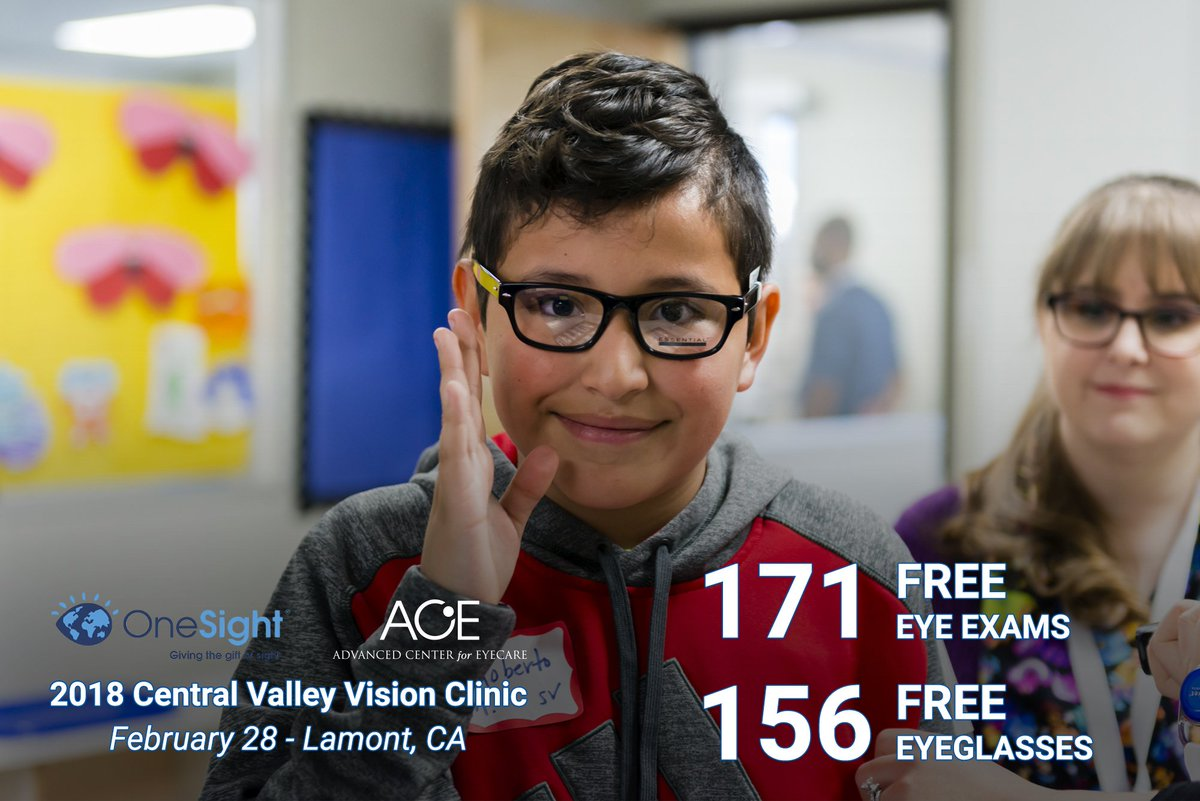 #ThankYou to the Lamont Weedpatch Family Resource Center for hosting the @OneSightOrg &amp; @ACE_Eyecare #visionclinic yesterday. With your help, we provided 171 free #EyeExams and 156 free pairs of #eyeglasses to students from #Lamont and #Arvin. #WeChangedLives #TheGiftOfSight<br>http://pic.twitter.com/abzP1dvogE