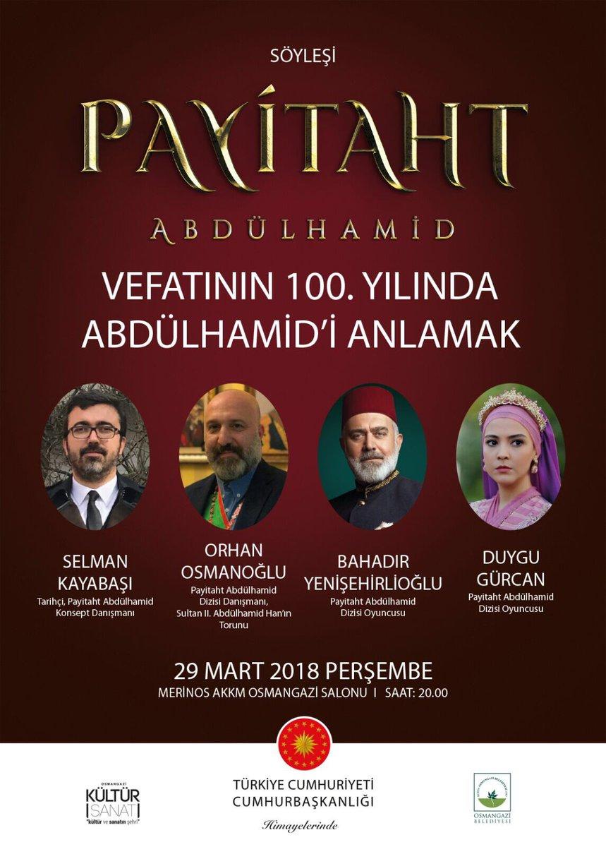29 Mart'ta Bursa, Osmangazi. @PayitahtEs...