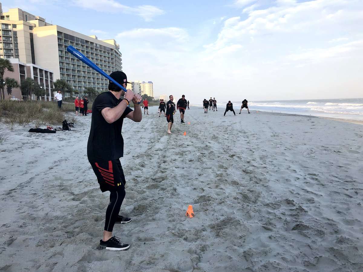 Maryland Baseball على تويتر Practice Time In Myrtle Beach Wiffle Ball Beachterps