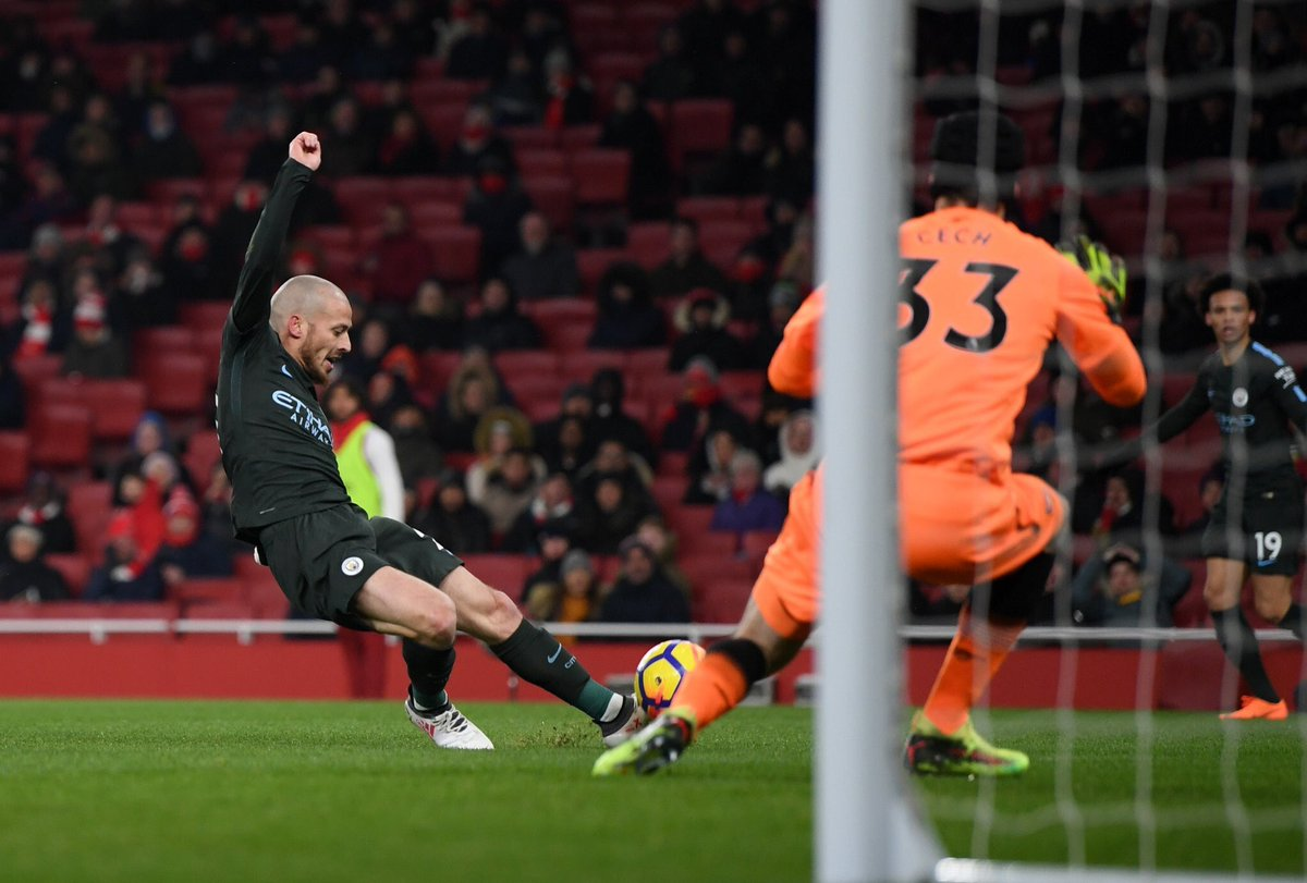 DXPHsmvWkAE91LW - Favourites Manchester City Thump Wenger Brigade In Their Own Den: Players' Ratings