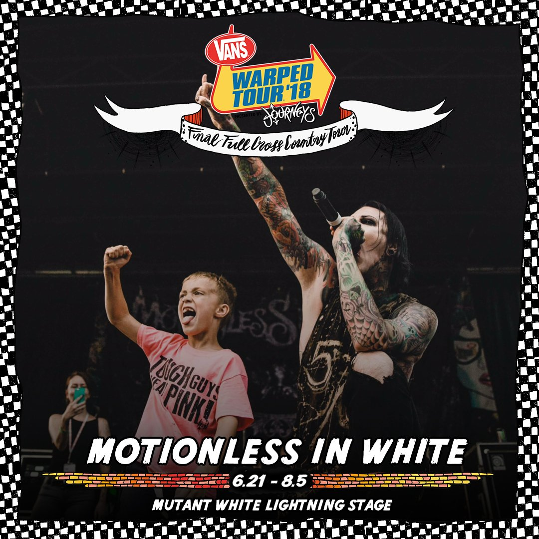 Motionless in white miwband twitter our career would not be where it is without warpedtour and we cannot wait to make this last one as special as possible kristyandbryce Choice Image