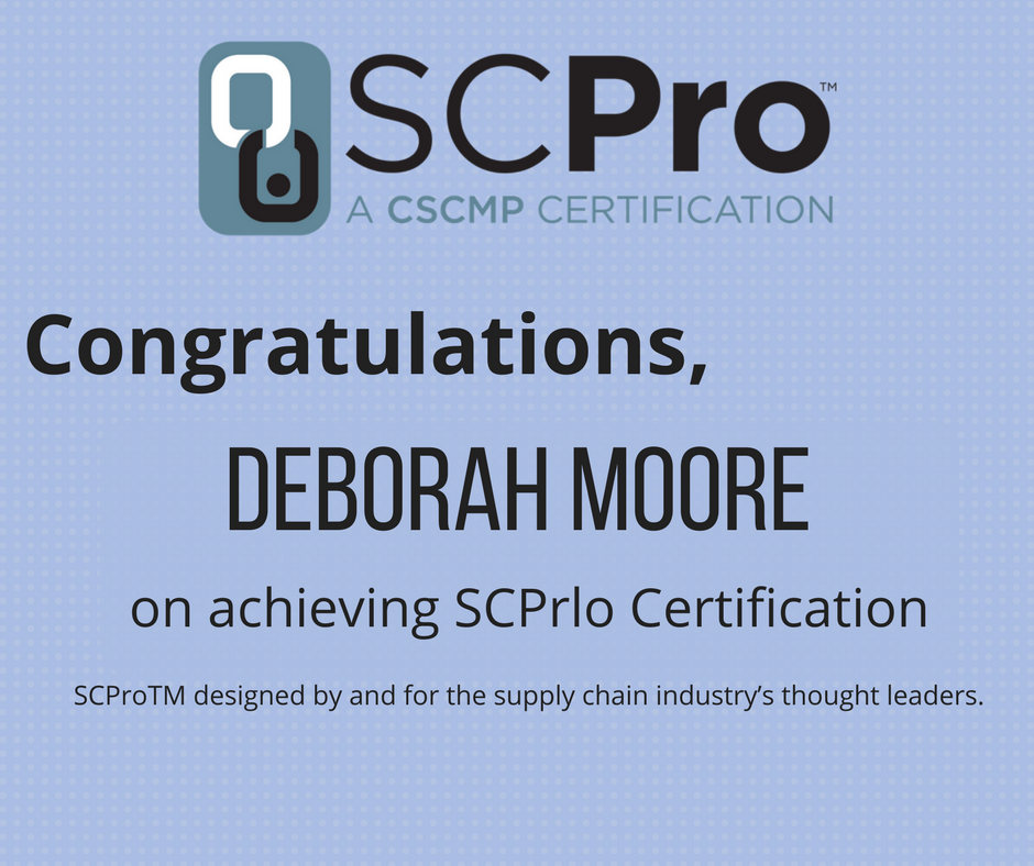 Cscmp On Twitter Congratulations Deborah Moore On Achieving Scpro