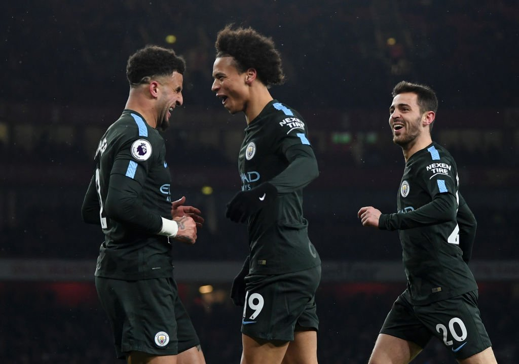 DXPXQrPXUAAv6Rv - Favourites Manchester City Thump Wenger Brigade In Their Own Den: Players' Ratings