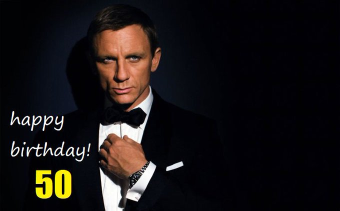 : Happy 50th birthday to 007, Daniel Craig!