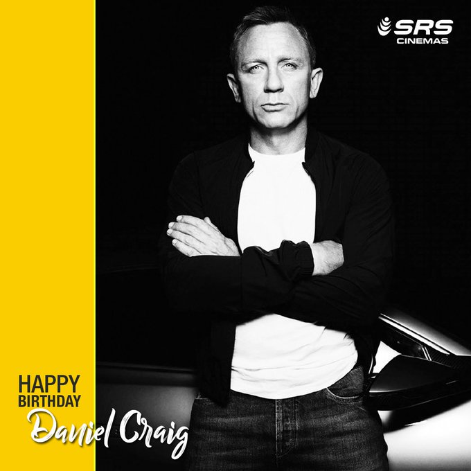Wishing Daniel Craig a very happy birthday.