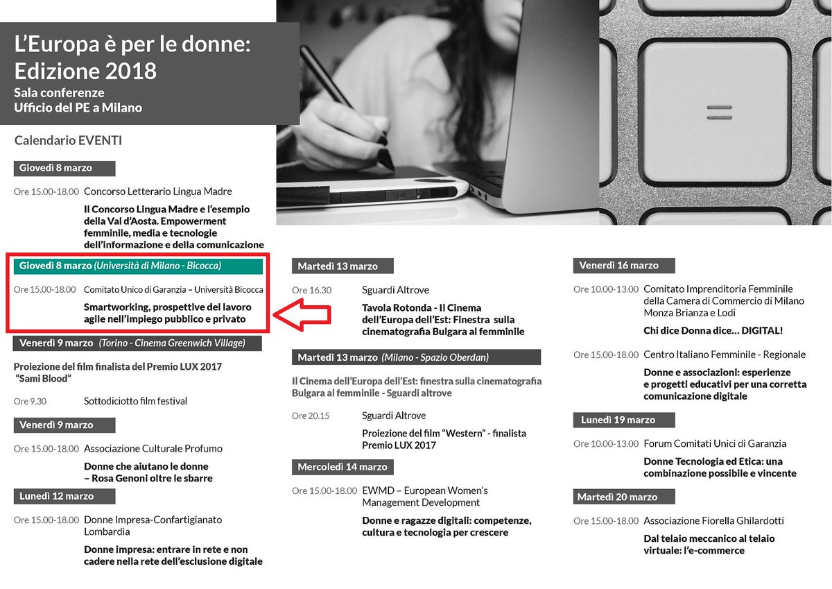 Calendario Bicocca.Milano Bicocca On Twitter 8marzo Incontro Organizzato Da