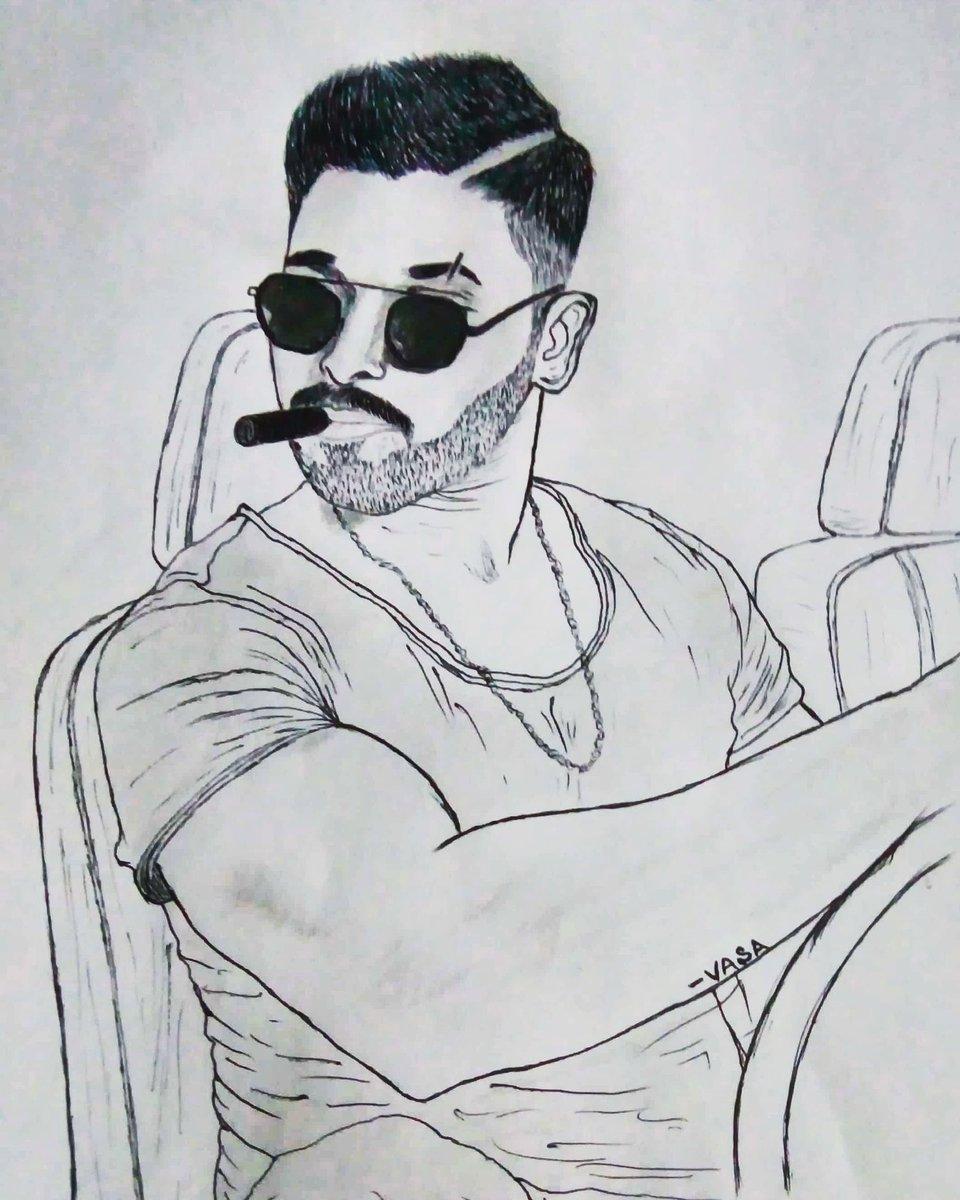 Deepak Vasa On Twitter A Ballpoint Pen Sketch Of Alluarjun Naaperusuryanaailluindia Nsni Alluarjun Impactposter Hope You Like It