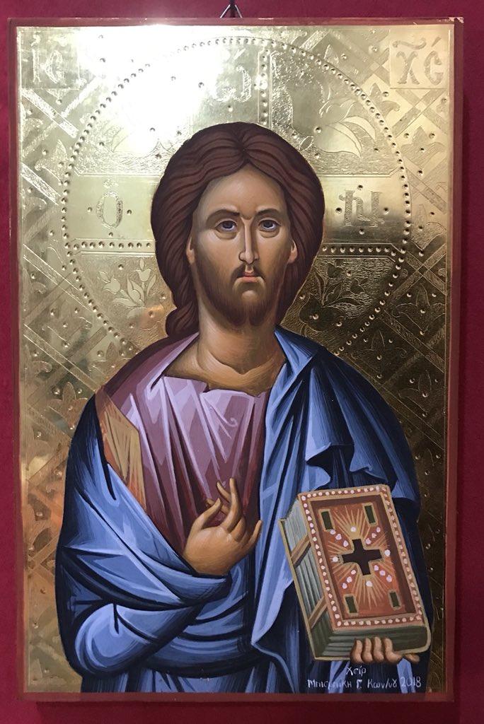«ΙΗΣΟΥΣ ΧΡΙΣΤΟΣ» ( στιλβωτο χρυσο 24Κ με τσουκανικο,διάσταση 25 χ 13)