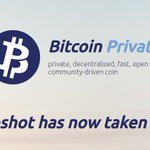 Image for the Tweet beginning: The snapshot for Bitcoin Private