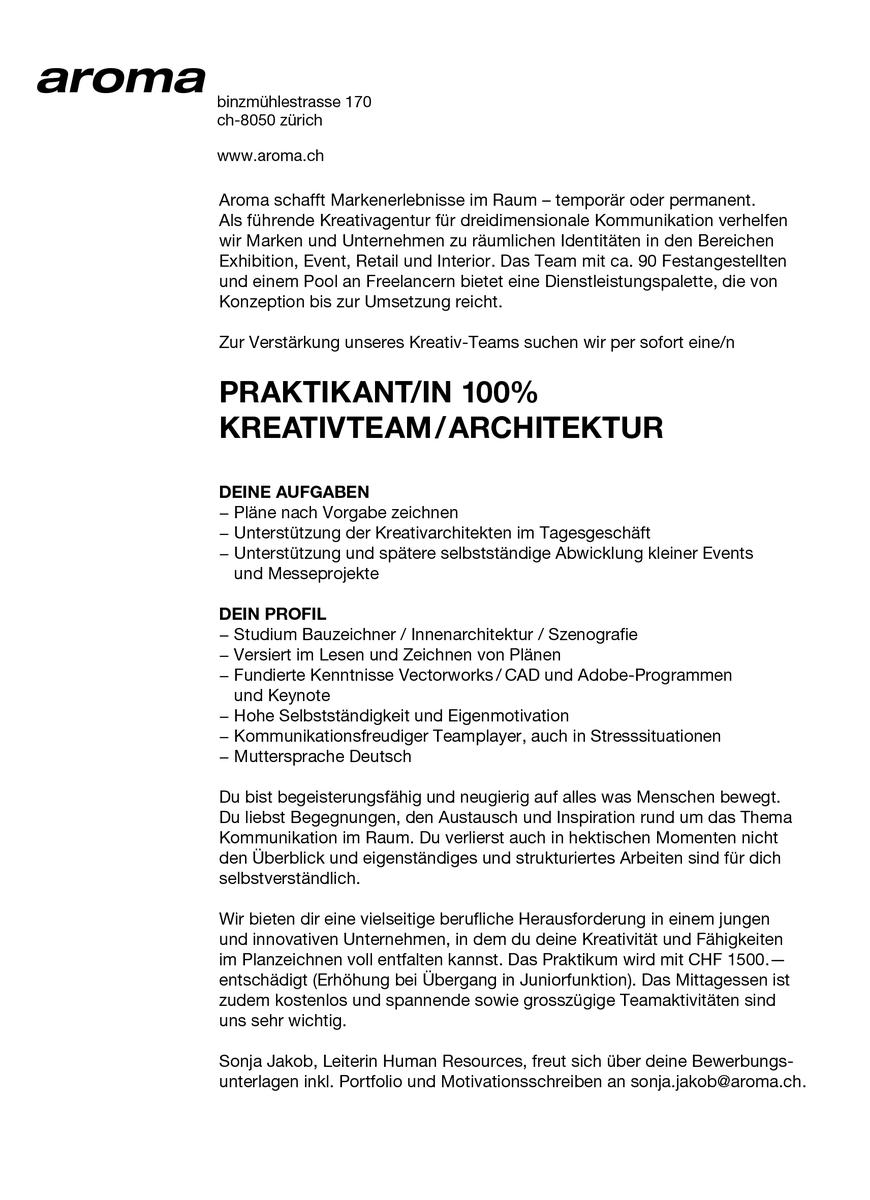 Motivationsschreiben Architektur aroma aroma tweets