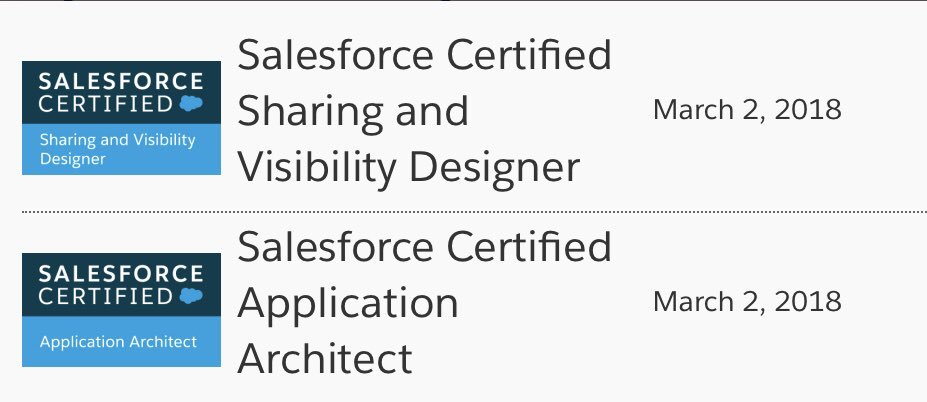 Barry Hughes On Twitter 2 More Salesforce Certs Last Night Now