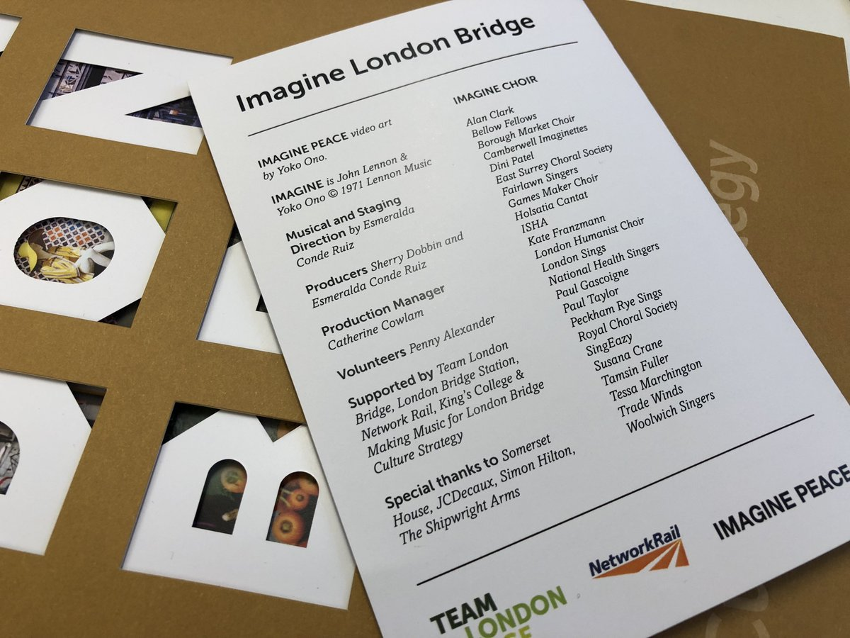 The sweet sound of the #imaginelondonbridge choirs yesterday gave us a  taste of what our Culture Strategy will bring #atlondonbridge.