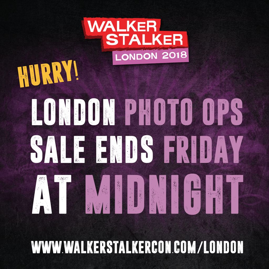 LAST CHANCE to purchase Photo Ops for #WSCLondon! There will be NO on-site sales!  All photo op sales must be done in advance!  You must purchase by Midnight TONIGHT! Click here to BUY NOW! buff.ly/2FO6ywk