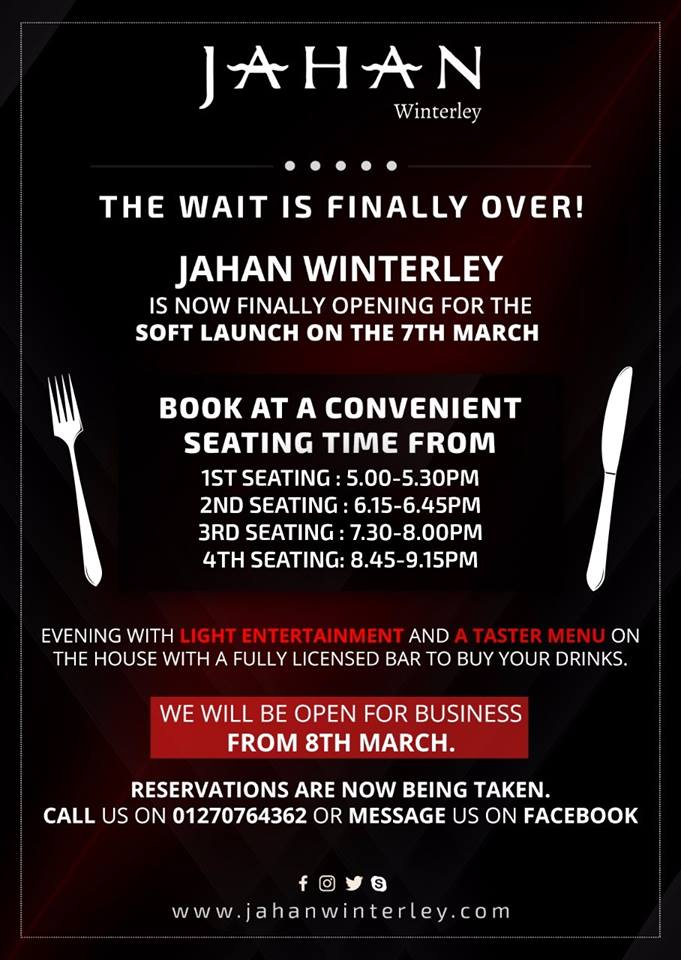 Jahan Restaurant Winterley on Twitter: