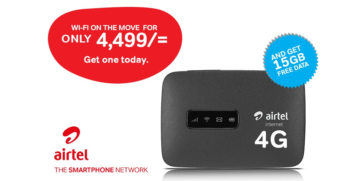 "Airtel Kenya on Twitter: ""The Airtel 4G MiFi modem connects up to ..."