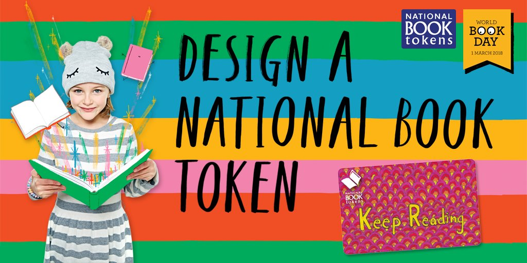 Our Design a National Book Token competition with @WorldBookDayUK is back! One young bookworm will get their design turned into a real-life National Book Token. How to enter: worldbookday.com/competitions/d… #WorldBookDay