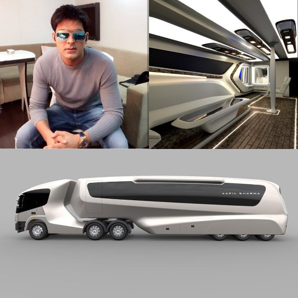 Kapil Sharma Shares His New Luxurious Vanity Van Pictures