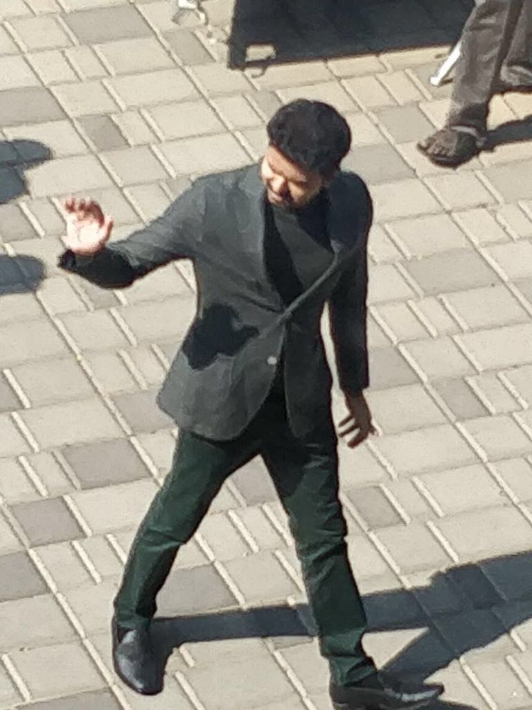 Vijay 62 shooting spot pics, Actor Vijay seen in uber cool look