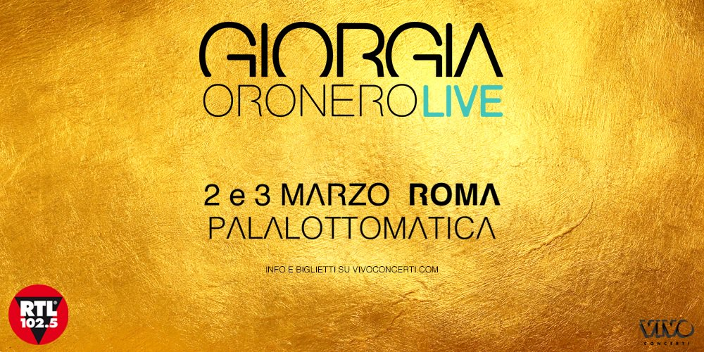Questa sera e domani Giorgia sarà al PalaLottomatica di Roma con un palco a 360°! Apertura porte h 19:00 Inizio concerto h 21:15 ** biglietti disponibili in cassa **