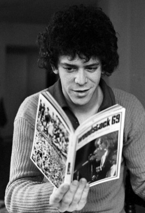 """My God is rock \n\ rool\""  Happy birthday, Lou Reed. in 1942"