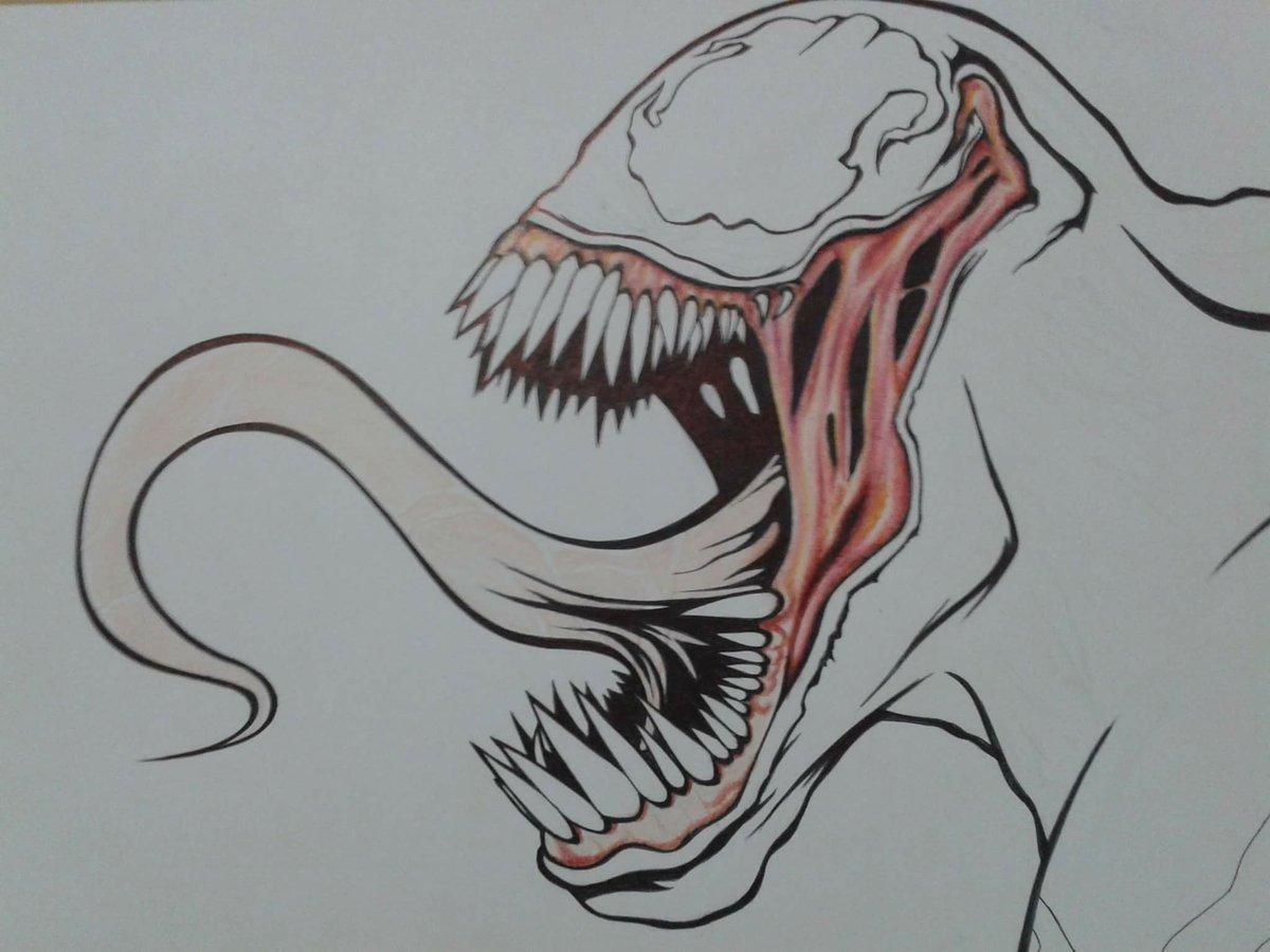 Venom Para Dibujar A Color
