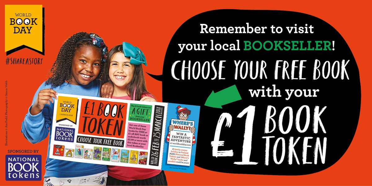 Got a £1 @WorldBookDayUK book token? Pop down to your favourite bookshop! 📚📚 caboodle.nationalbooktokens.com/local-offers #WorldBookDay