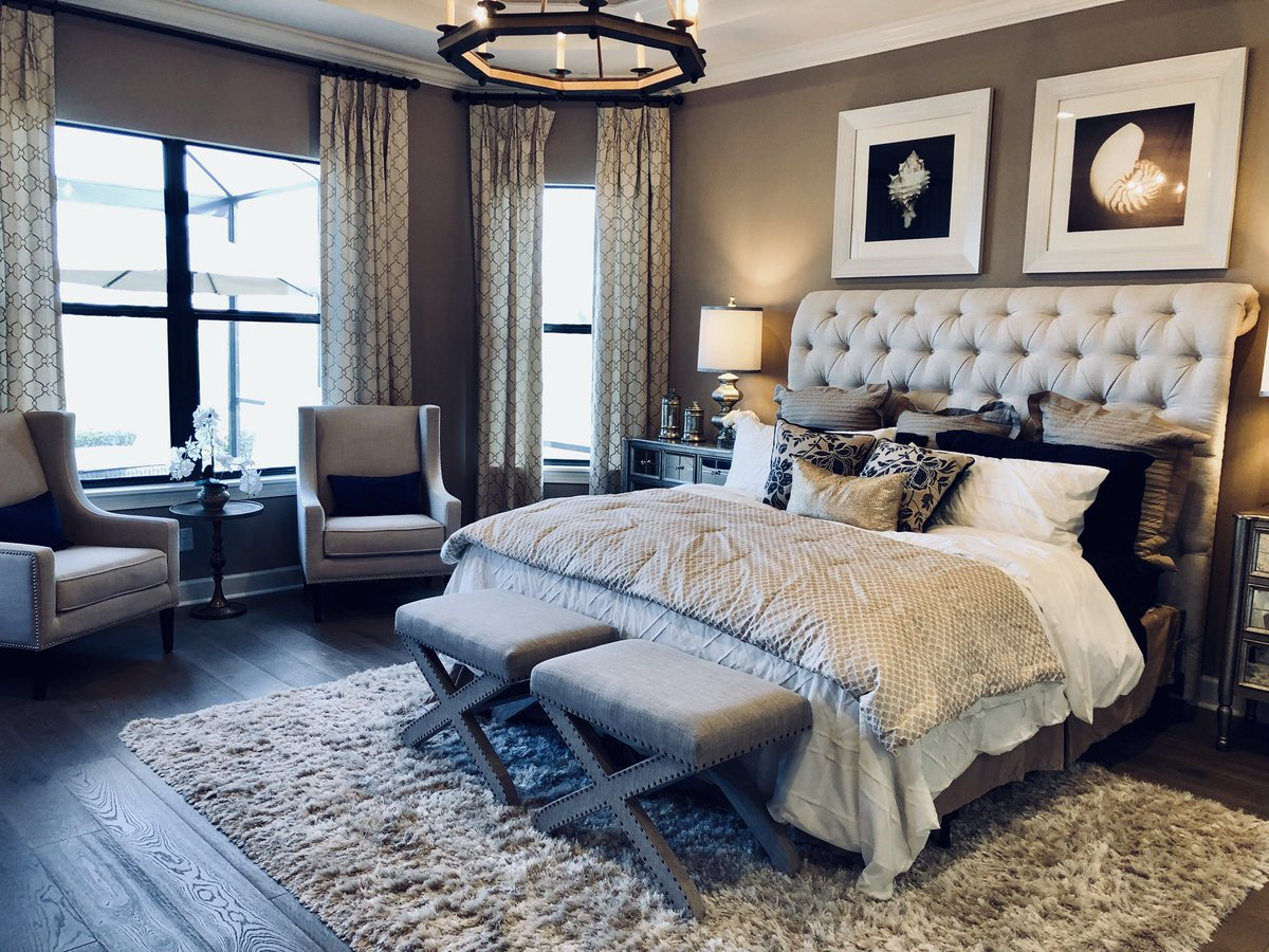 Heather And Ryan Caserta On Twitter This Spacious Master Bedroom By Taylor Morrison At Esplanade Is Inviting And Has Plenty Of Room For A King Sized Bed Two Large Nightstands More Lakewoodranch