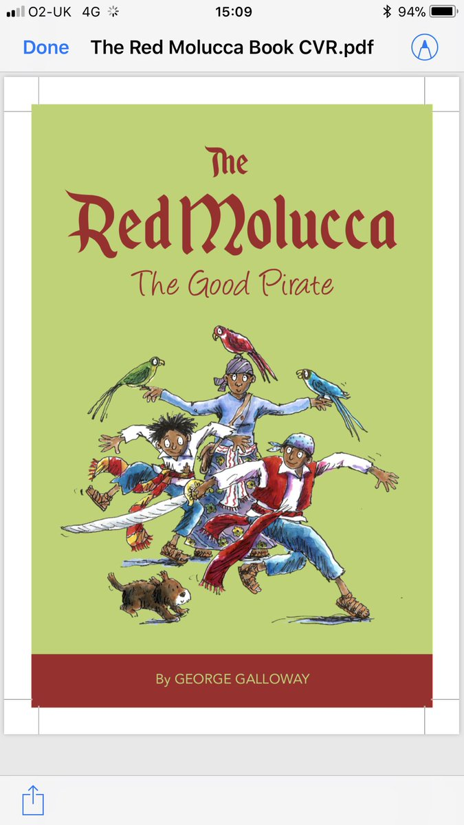 Image result for George Galloway children's pirate books Red Molucca the Good Pirate,
