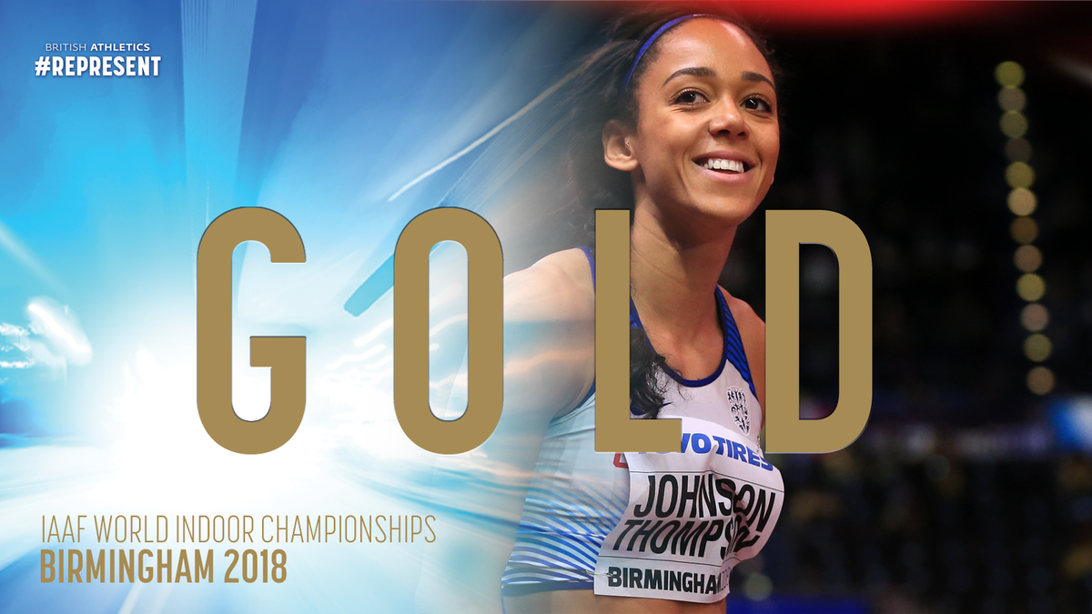 Our newest World Indoor Champion 🥇  Take a bow @JohnsonThompson #REPRESENT