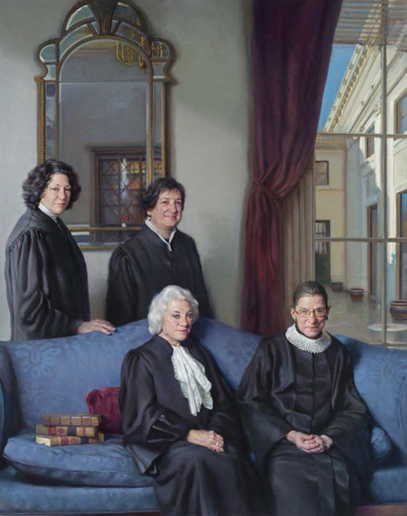 Image result for portrait gallery dc women justices