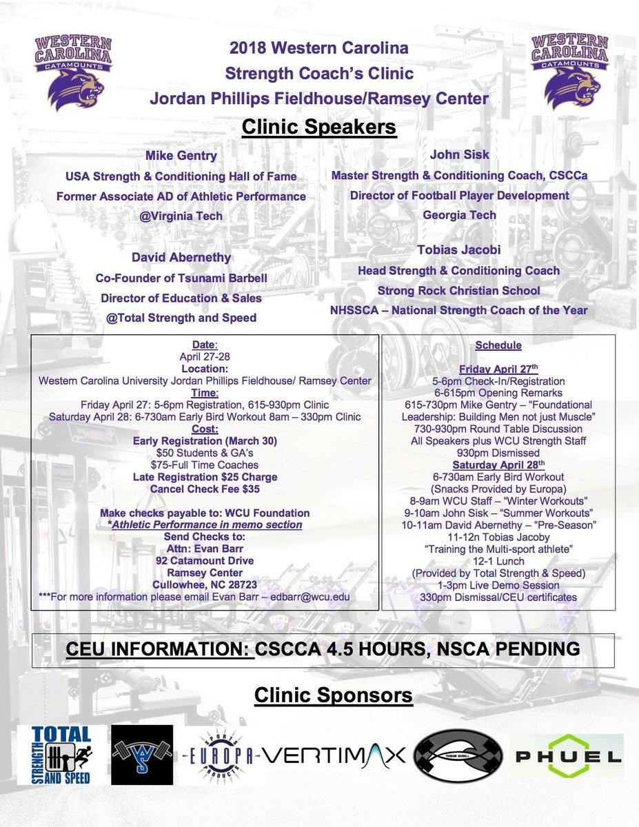 Purple & Gold: WCU Strength Clinic