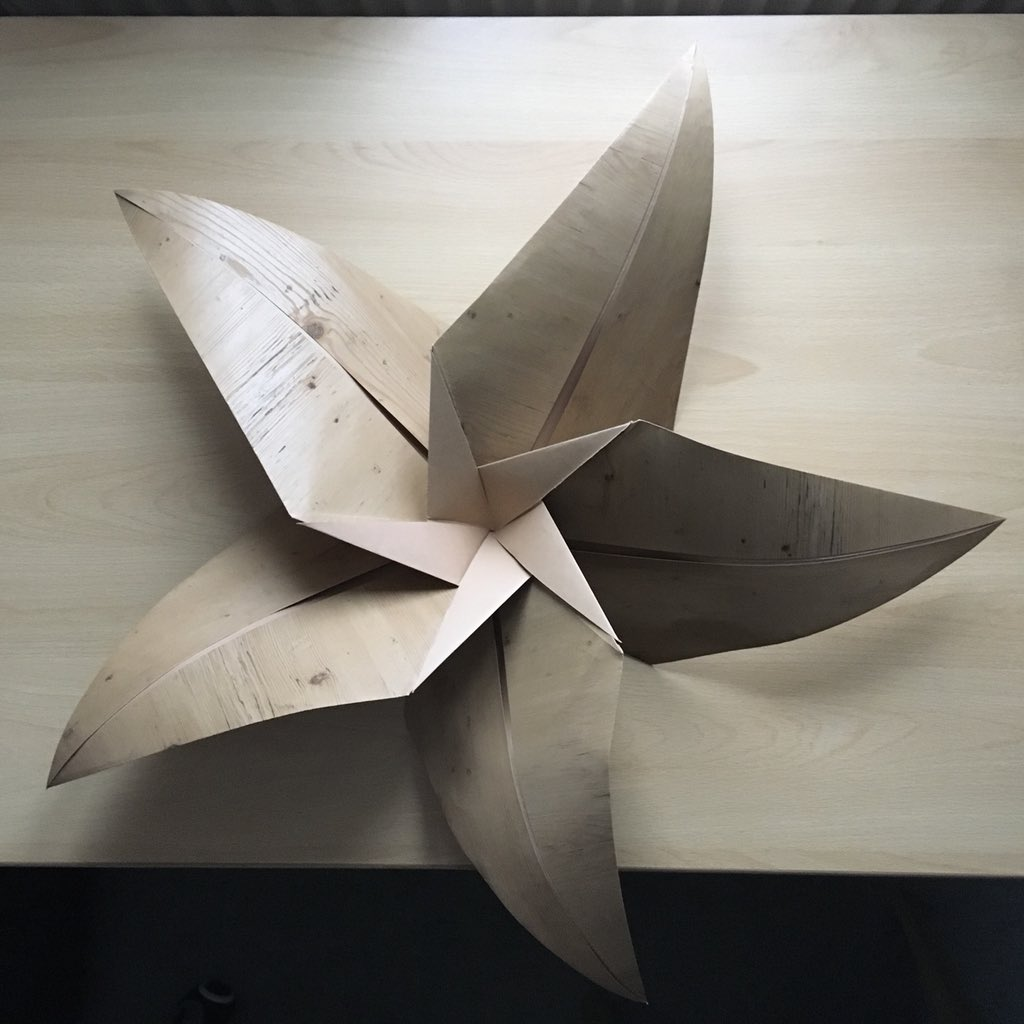 Clarissa Grandi On Twitter And Done Giant Wood Effect Origami