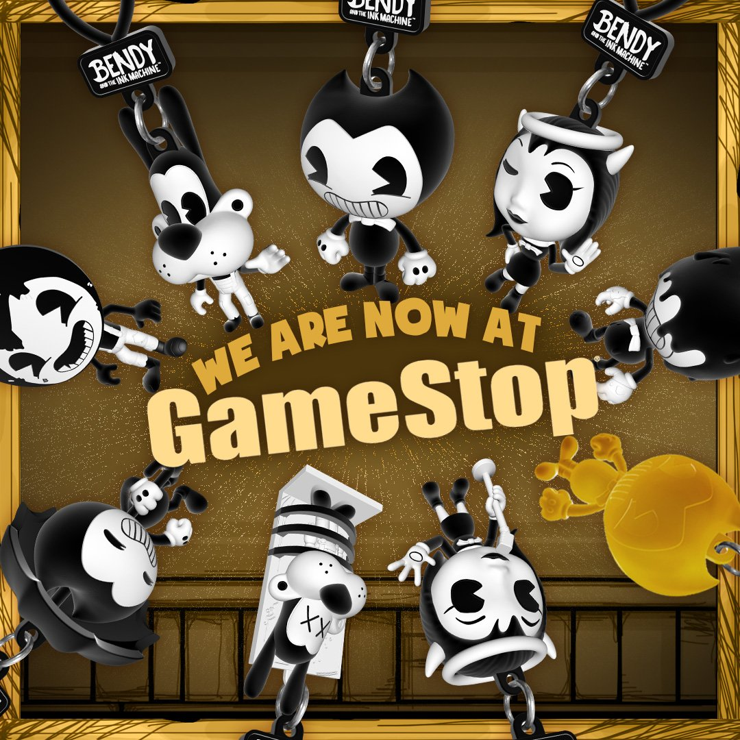 """Bendy on Twitter: """"Now #BATIM toys are at @GameStop! Woot ..."""