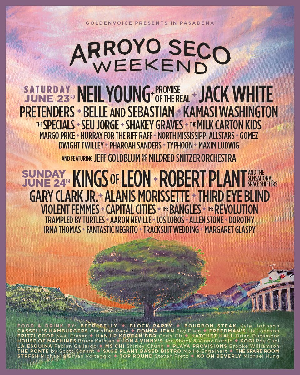 RP & the Sensational Space Shifters will perform at @arroyosecowknd in Pasadena, CA, on June 24. Passes on sale Friday, March 9, at 10am PT: arroyosecoweekend.com
