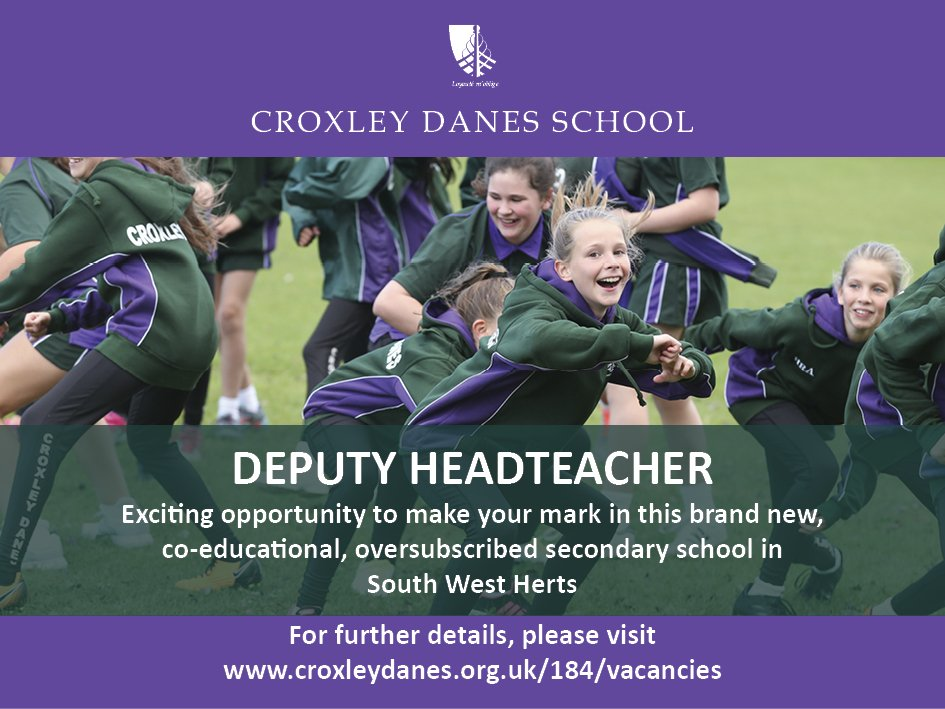 #teachingvacancyuk Deputy Headteacher SouthEast / London Apply now: https://t.co/K0Lf0NesjR By: 19 March 2018 For: 1 Sept 2018 Fantastic opportunity to make your mark in this new, co-educational secondary school in South West Hertfordshire. https://t.co/ApsYpKaJkB