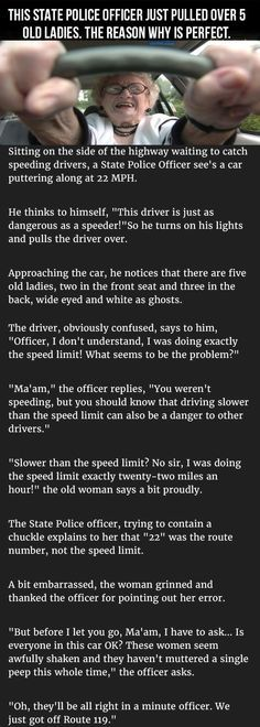 Funny Quotes: This State Officer Pulled Over 5 Old Ladies The Reason Why Is Perfect funny quot... -   https:// thelovequotes.net/funny/funny-qu otes-this-state-officer-pulled-over-5-old-ladies-the-reason-why-is-perfect-funny-quot/ &nbsp; … <br>http://pic.twitter.com/BECWyuMM39