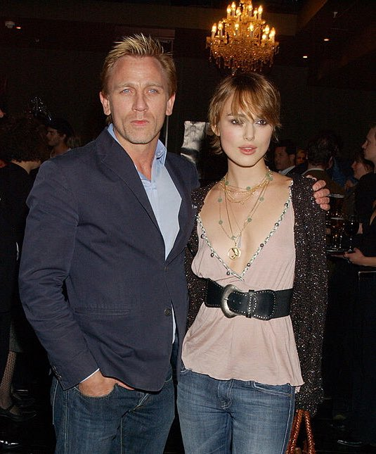 Happy Birthday to Daniel Craig!  -Keira Knightley and Daniel Craig co-started in the film The Jacket (2005)