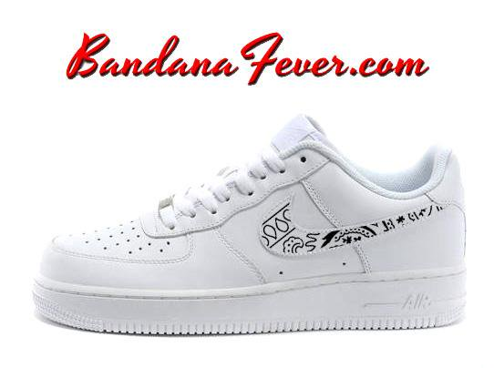 finest selection 192d8 cb0ee Custom Black Bandana Nike Air Force 1 Shoes White Low,  paisley,  bandanna,  by Bandana Fever  swag  love  paisley  sneakerdesign  sneakerporn  hypebeast  ...